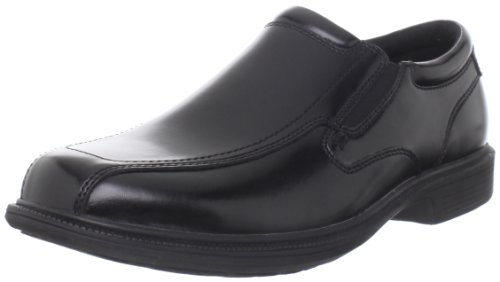 Nunn Bush Men's Bleeker Street Slip On Loafer with KORE Slip Resistant Comfort Technology, Black, 11 Wide US