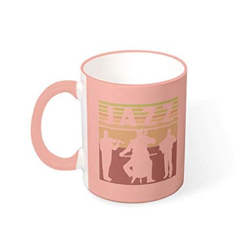 O3XEQ-8 Taza de café con asa, cerámica lisa, regalo para niñas y mujeres, para residencias residenciales, 330 ml
