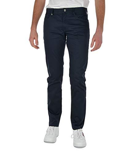 ARMANI EXCHANGE Comfort Fabric Easy 5-Pocket Jeans, Navy Scuro, 34 Uomo