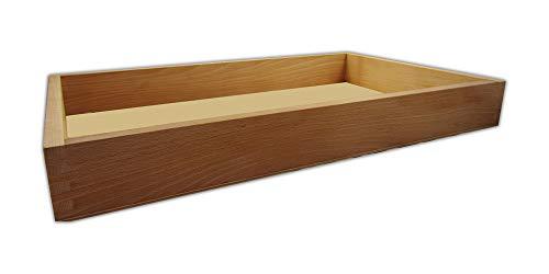 GREEN24 Gewächshaus Style-Box Beige GK5331H für Bewässerungswanne + Topfplatte - Buche Massivholz gewachst