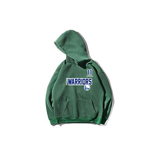 Thompson basketbal jersey groene trui mannen en vrouwen, kinderen sport capuchon trui plus fleece pak, katoen materiaal, zachte textuur (S-3XL)