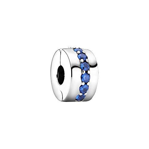 Pandora Colgante de plata de ley con cierre de clip, 10,8 x 10,8 x 6,5 mm