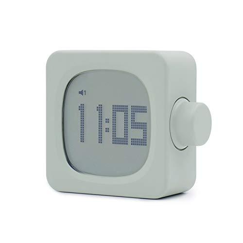 Release Reloj despertador de diseño moderno, digital, recargable, cuadrado, electrónico, con interruptor de botón retro, con luz nocturna (color 2)