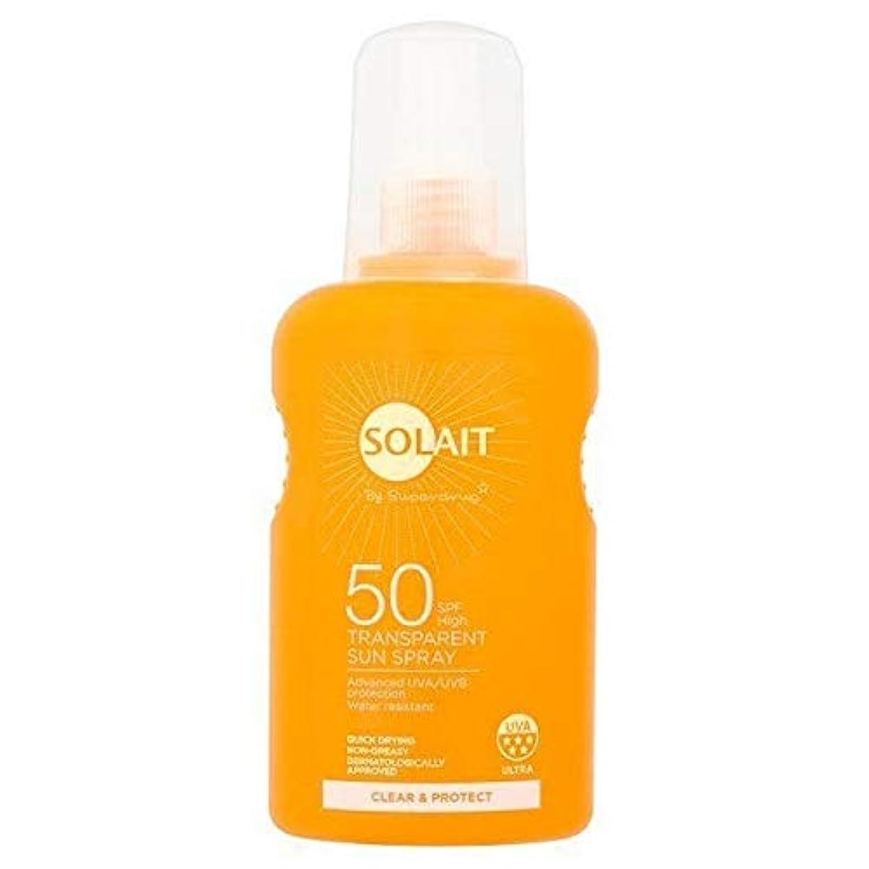 毒液とげのある光[Solait] 明確なSolait&透明日スプレーSpf50を保護 - Solait Clear & Protect Transparent Sun Spray SPF50 [並行輸入品]