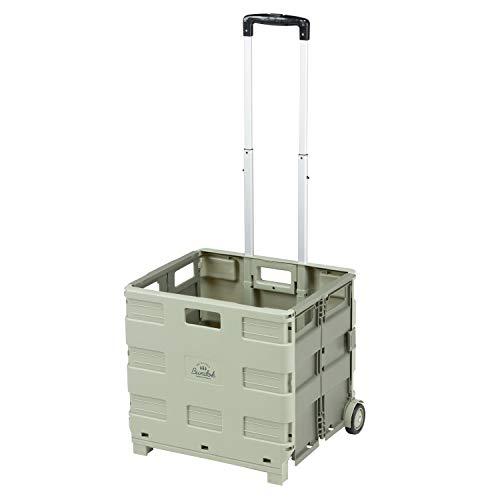 BUNDOK(バンドック) ボックス キャリー カート BD-318KA 折りたたみ式 耐荷重30kg カーキ