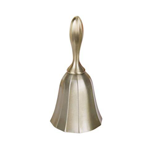 LIOOBO Hand Glocke Vintage Antike Bronze Anruf Glocke Hochzeit Glocke Weihnachten Jingle Bell Durchmesser