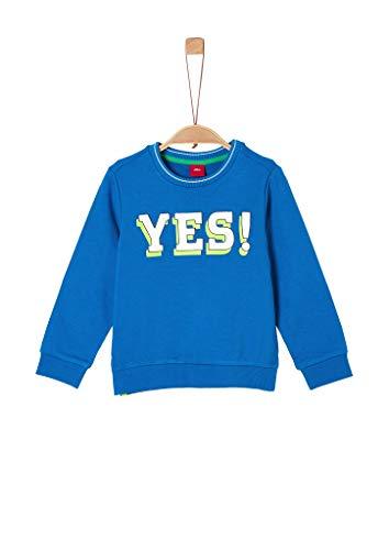 s.Oliver Junior Jungen Langarm Sweatshirt, Blau (Blau 5526), 116/122/REG