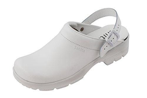 Sanita Workwear San-Duty Open-OB, Unisex-Erwachsene Clogs, Weiß (White 1), 45 EU
