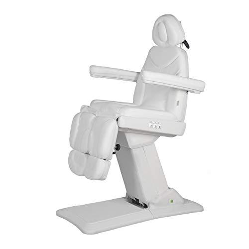 Physa PRETTY Fußpflegestuhl Kosmetikliege Behandlungsliege (elektrisch, 3 Motoren, 59-88 cm, 3 Zonen, Gesichtsöffnung, einzeln bewegliche Beinablagen, inkl. Fernbedienung) Weiß