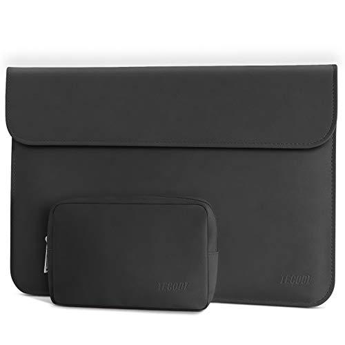 TECOOL 13 3 Zoll Laptop Hülle Tasche Faux Wildleder Notebook Schutzhülle & Zubehörtasche für MacBook Air 13 A1466/A1369, MacBook Pro 13 A1502/A1425, MateBook D 14, 13.5