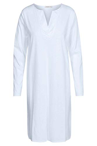 Damen Nachthemd langarm Bleu 44