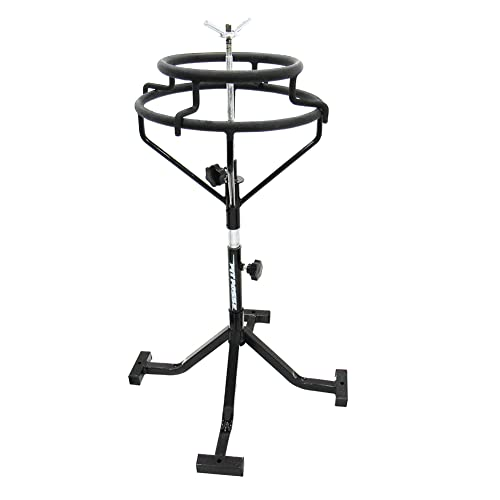 Pit Posse PP2753 Motorcycle Tire Changing Stand - Portable - Lightweight - Wide & Sturdy - Adjust...
