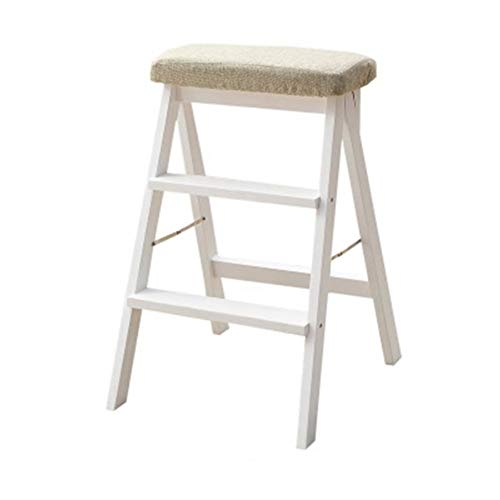 QTQHOME Quadratische Woody Folding Hocker Küche Barhocker,bar-hocker Heavy Sitz Geeignet Für Indoor Outdoor Cafe Bar Pub-grau 42x48x64cm(17x19x25)