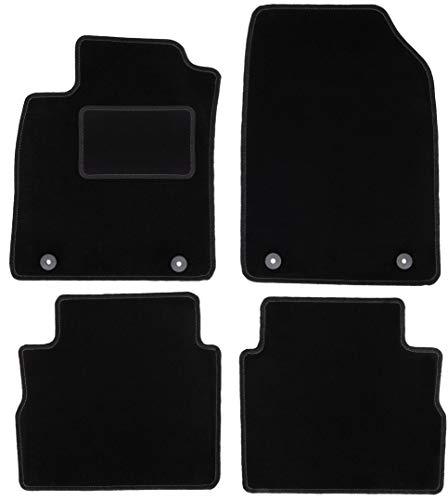 Wielganizator Carlux - Juego de alfombrillas de terciopelo para Opel Vectra C liftback, hatchnack, Sedan 2002-2008, 4 piezas, color negro