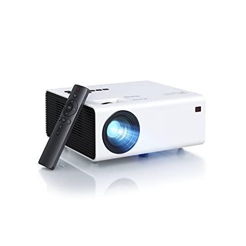 Proiettore,Nativo 1080p Proiettore Full HD,Mini Proiettore Portatile da 7800 Lumen Schermo Gigante da 180 Pollici con Zoom 25%,Proiettore Video Supporta 4k Fire Stick  Android iPhone PC PS4 PPT