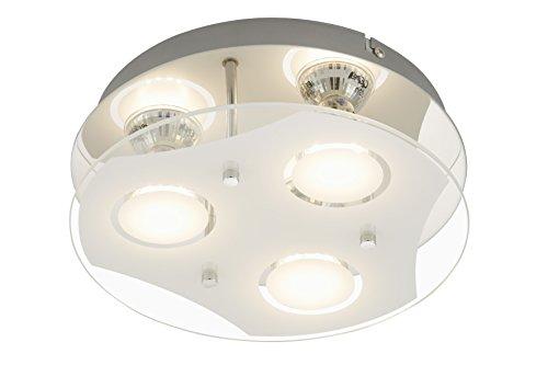 Briloner Leuchten Deckenleuchte, LED Lampe, Deckenlampe, LED Strahler, Spots, Wohnzimmerlampe, Deckenstrahler, Deckenleuchte Wohnzimmer, Deckenspot, Deckenbeleuchtung, rund