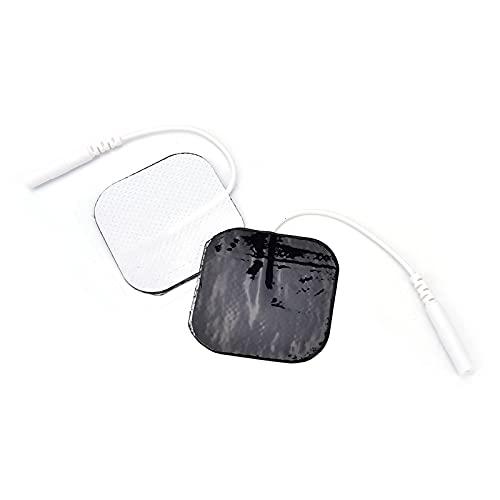 Electrodos Alto Rendimiento Larga Duración - Electrodo Grande Tens EMS Electroterapia Pads Caucho Reutilizables, Electrodos Cervicales Facial Gluteos Hombro Manos Rodilla20pcs (2.0mm)
