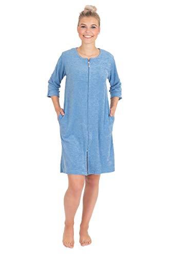 wewofashion Damen Strandkleid Badekleid Frotteekleid Hauskleid by Otto Werner 040 Jeansblau (44/46)