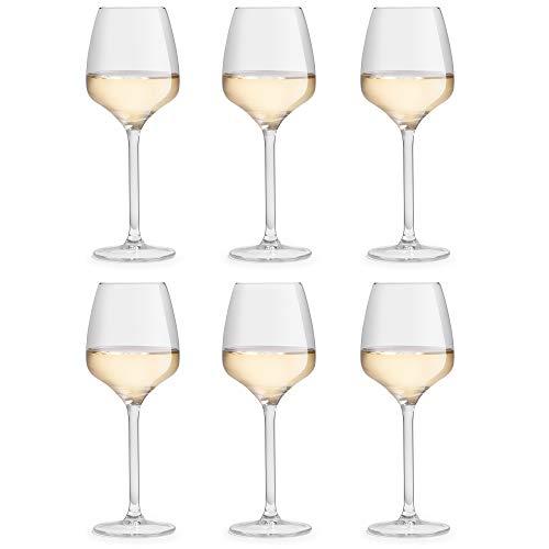 Libbey Copa de Vino Servan – 29 cl / 290 ml - 6 Unidades - Hermoso Diseño - Resistente al Lavado en Lavavajillas
