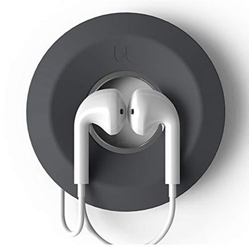 Soporte para auriculares Auriculares Enrollador de cable portátil Caja de almacenamiento de...