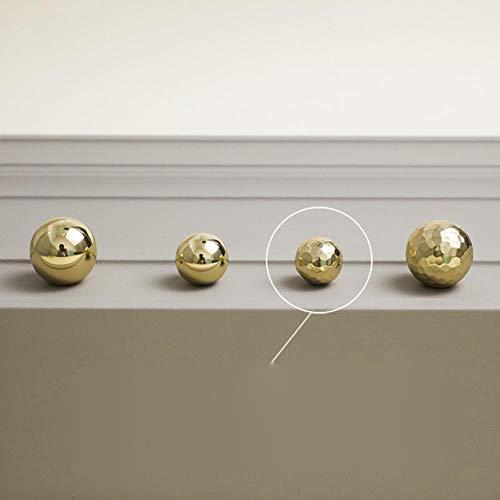Espejo martillado a mano manija de latón puro armario armario zapatero cajón puerta bola solo orificio manija pequeña
