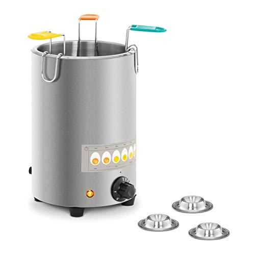 Royal Catering Cuoci Uova Elettrico Cuociuova Professionale RCEB-3T (3 uova, 1.500 W, Acciaio inox, 30-110 °C)
