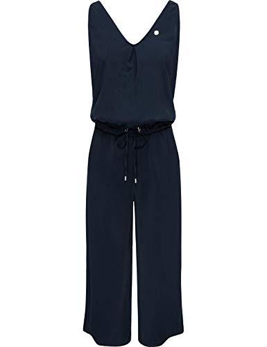 Ragwear Damen Langer Jumpsuit Overall Einteiler Suky Navy Gr. M