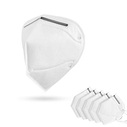 Máscara de respiración Leicke KN95 con certificado FFP- 2,  con clip de nariz ajustable