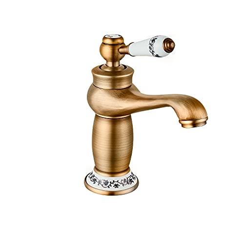 DP Grifería - Grifo monomando de lavabo en color Antique, modelo Argán
