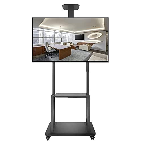 Supporto TV da pavimento Carrello TV Carrito de TV sobre Ruedas, Soporte de Piso de TV Universal para Dormitorio/Oficina, Soporte para televisores LCD LED de 40/42/45/50/55/60/65/70/75 Pulgadas
