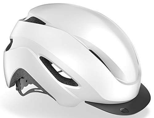 Rudy Project Central+ - Casco de bicicleta (talla M, 54-58 cm), color blanco mate