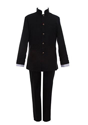 ROLECOS Sakamoto High School Uniform Sets Black Japanese Anime Cosplay Costume L