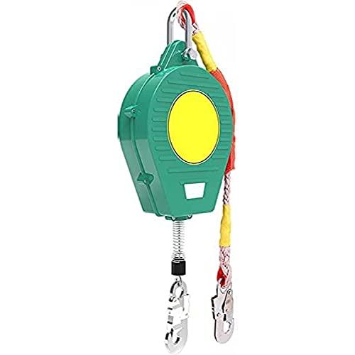 TADYL Eslinga De Línea De Vida Autorretráctil De Protección contra Caídas, Dispositivo De Seguridad De Altura De Línea De Vida De Cuerda Autorretráctil Soporte De Carga: 150 Kg-5M