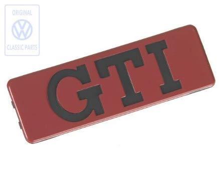 Schriftzug GTI seitlich für VW Golf 2 191853714qn5 Emblem Rot Original Design