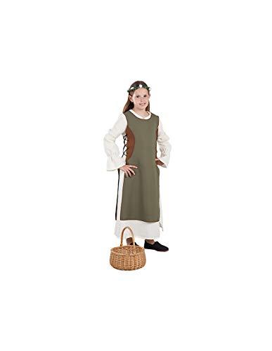 DISBACANAL Disfraz Campesina Medieval Infantil - -, 12 aos
