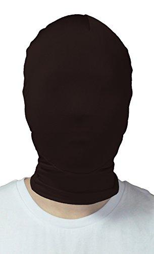 VSVO Adults Black Full Cover 2nd Skin Mask (Adults, Black)