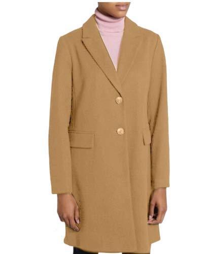 United Multiservices Abrigo largo de mujer, de invierno, largo y femenino, fabricado en Italia – WS8 camel M