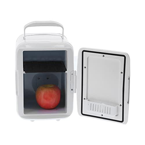 BHDK Mini refrigerador portátil, refrigerador Personal de 4 litros más frío y más cálido, refrigerador Compacto Multifuncional para el Cuidado de la Piel, cosméticos, Comida, Dormitorio, automóvil