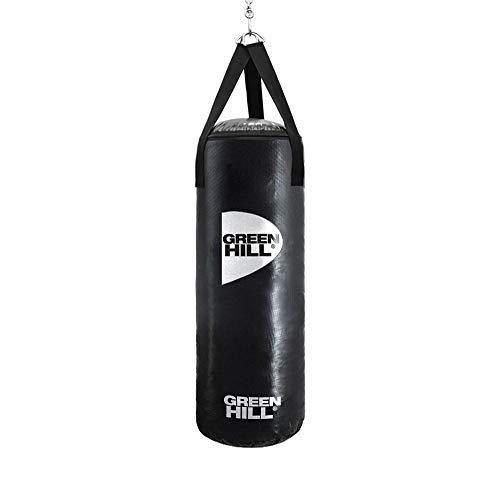 GREEN HILL Sacco da Boxe Vinile Pugilato Pieno Boxing Punching Bag Saccone Riempito (90cm x 35cm x 25kg)