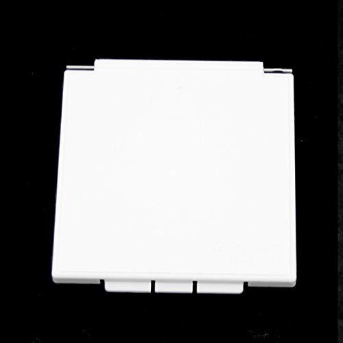 Tapa de repuesto para enchufe exterior CEE para caravana, color blanco cuadrado