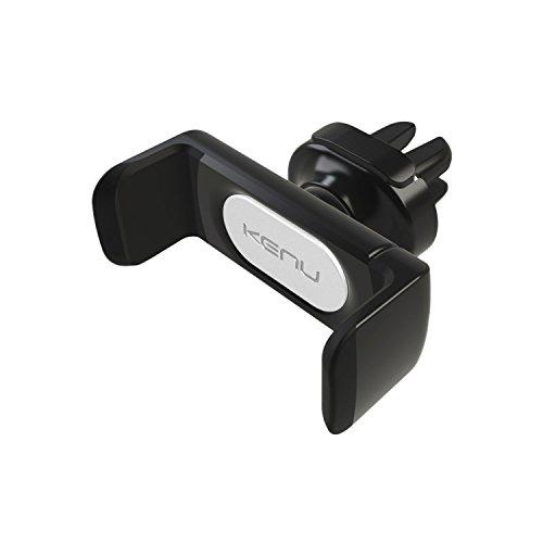 Kenu Airframe Pro Lüftungs Halterung für Smartphones/Phablets (min. 58mm / max. 93mm Breite) - schwarz [360° Drehbar I Gummierte Haltebacken I Patentierte Technologie I Standfunktion] - AF4-KK-NA