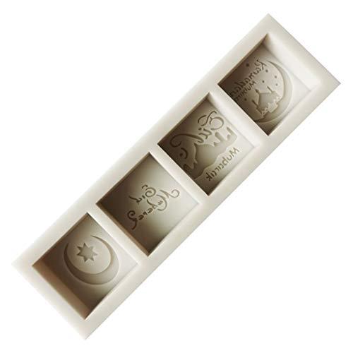 ColourQ Eid Mubarak Words - Molde de silicona para fondant Mousse de pastel y chocolate