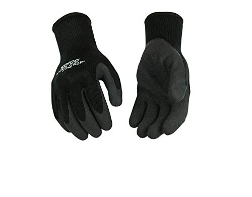 Kinco - 1790-XL Warm Grip Thermal Knit Shell & Latex Palm Black/Gray