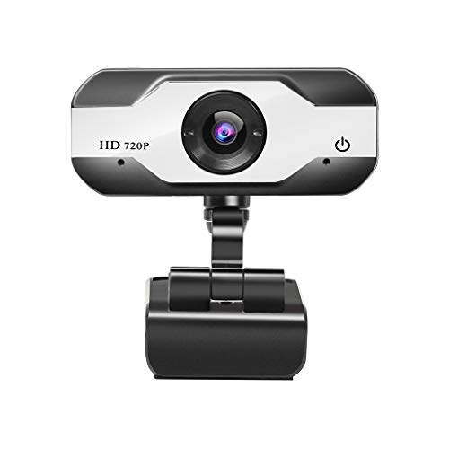 Sayla HD720P USB PC Webcam mit Mikrofon, 1 Millionen Pixel HD Stream Webcam für Videokonferenzen, für Konferenz und Video Call, Pro Stream Webcam mit Plug and Play Video Calling (Weiß)