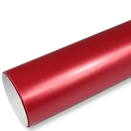 Rapid Teck® 9,86€/m² AutoFolie Serie 560MG ColorShift Matt Chrom Satin Rot 2m x 1,52m Premium Car Wrapping Folie mit Luftkanal