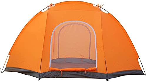 Ankon Portable family camping tent 4 Season Hands-on Dome Camping Hiking Waterproof Tents for Backpacking Fishing (Color : Orange, Size : 300X300X170CM)
