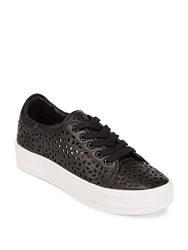 Alice + Olivia Pemton Leather Sneakers, Black (38 = 8)