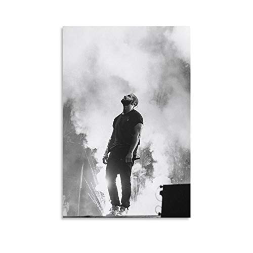 Nkopl Drake Concert with Smoke Poster Poster Decorative Painting Canvas Wall Art Living Room Posters Bedroom Painting 12x18inch(30x45cm)