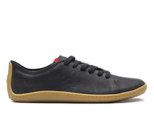 Vivobarefoot Addis, Womens Classic Leather Lace-Up with A Barefoot Feel & A Social Conscience Black