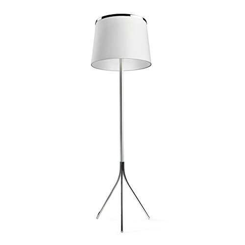 LEDS-C4 Leïla – luminaire lampadaire Leila 3 x 23/3 x 40 W aluminium chrome Écran Blanc